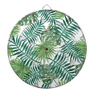 Plant Tropical Botanical Palm Leaf Dartboard