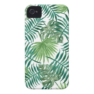 Plant Tropical Botanical Palm Leaf iPhone 4 Case-Mate Case