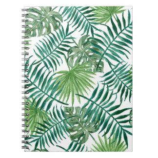 Plant Tropical Botanical Palm Leaf Notebook