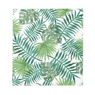 Plant Tropical Botanical Palm Leaf Notepads