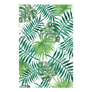 Plant Tropical Botanical Palm Leaf Stationery