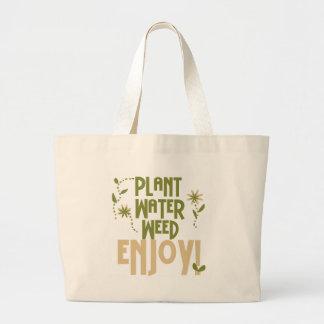Plant Water Weed Enjoy Jumbo Tote Bag