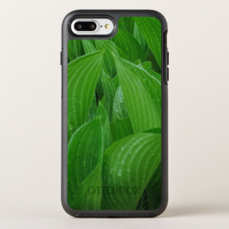 Plantain Lily Leaves with Raindrops OtterBox Symmetry iPhone 8 Plus/7 Plus Case