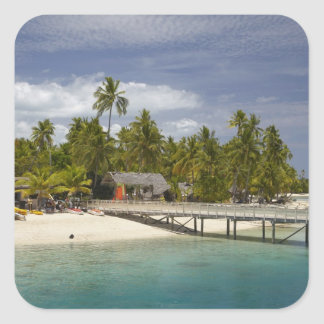 Plantation Island Resort, Malolo Lailai Island 3 Square Sticker