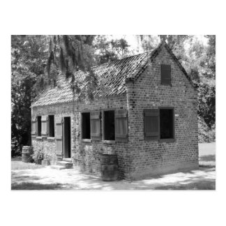 Plantation Slave Quarters Postcard