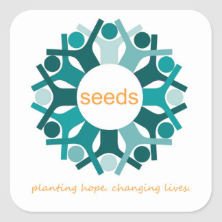 Planting hope. Changing Lives Square Sticker