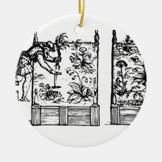 Planting in raised beds, from 'The Gardener's Laby Ceramic Ornament