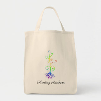 Planting Rainbows Grocery Tote Bag