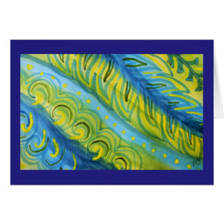 Plants abstract watercolor card