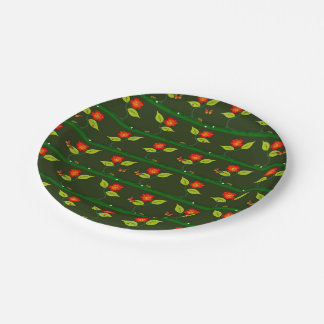 Plants and flowers 7 inch paper plate