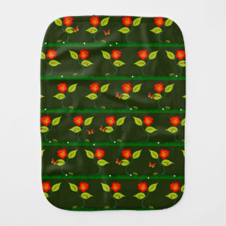 Plants and flowers burp cloth