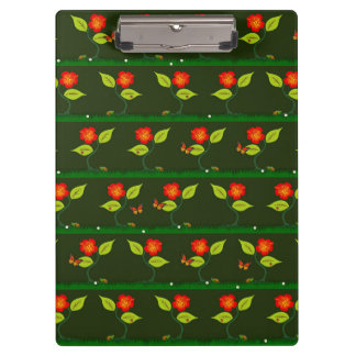 Plants and flowers clipboard
