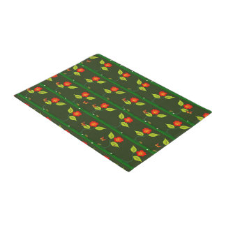 Plants and flowers doormat