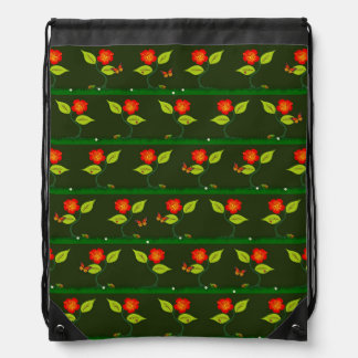 Plants and flowers drawstring bag