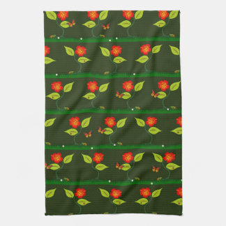 Plants and flowers hand towels