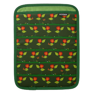 Plants and flowers iPad sleeve