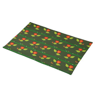 Plants and flowers placemat