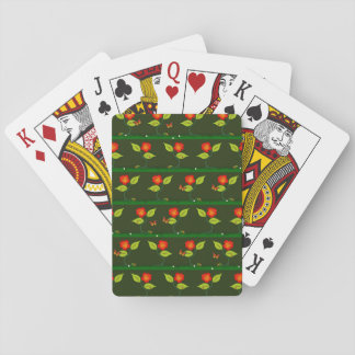 Plants and flowers playing cards