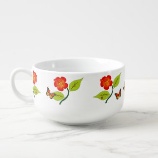 Plants and flowers soup mug