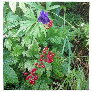 Plants at Pioneer Falls Butte Alaska Napkin
