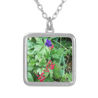 Plants at Pioneer Falls Butte Alaska Silver Plated Necklace