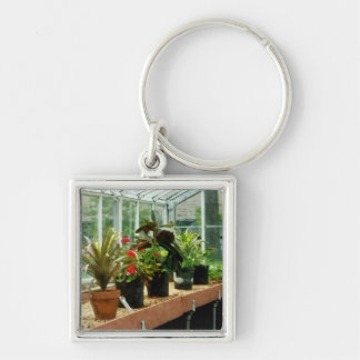 Plants in Greenhouse Key Ring