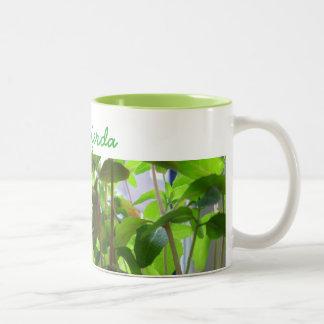 Plants Keep Growing Seeds with Name Two-Tone Coffee Mug