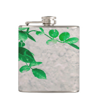 Plants over Wall Photo Hip Flask