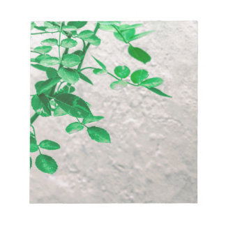 Plants over Wall Photo Notepad