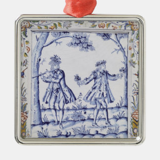 Plaque depicting a scene from 'The Magic Flute' Metal Ornament