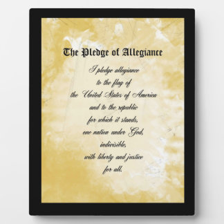 Plaque - The Pledge of Allegiance