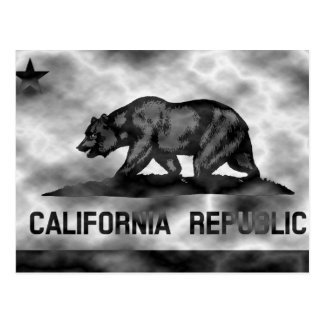 Plasma California Flag Postcard