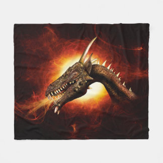 Plasma Dragon Fleece Blanket