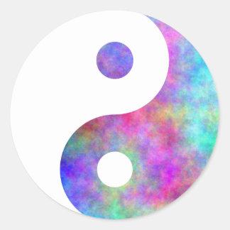 Plasma Yin Yang Classic Round Sticker