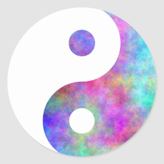Plasma Yin Yang Round Sticker