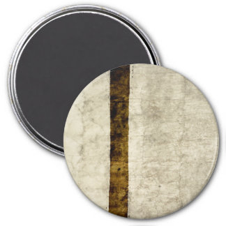 Plaster Antique Paper Template Blank neutral 7.5 Cm Round Magnet