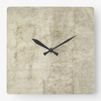 Plaster Antique Paper Template Blank neutral Square Wall Clock