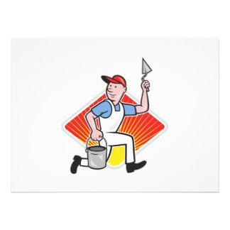 Plaster Masonry Worker Cartoon Personalised Invites
