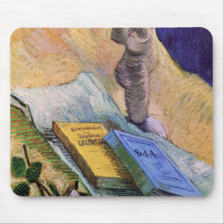 Plaster Statuette, a Rose and Novels - van Gogh Mouse Pad