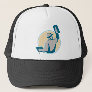 plasterer construction worker trowel trucker hat