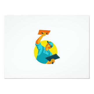 Plasterer Masonry Trowel WPA 17 Cm X 22 Cm Invitation Card