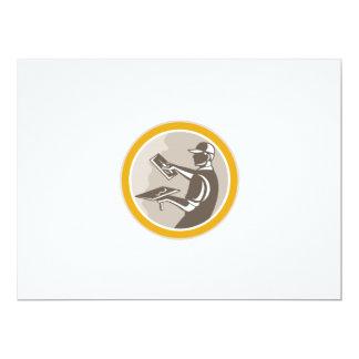 Plasterer Masonry Worker Trowel Retro 17 Cm X 22 Cm Invitation Card
