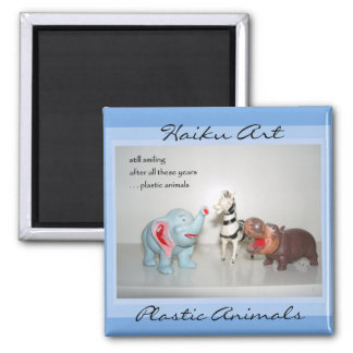 Plastic Animals Haiku Art Magnet