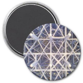 Plastic basket 7.5 cm round magnet