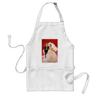 Plastic Bride And Groom Wedding Cake Aprons