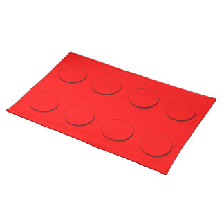 Plastic Building Block (Red) Place Mats