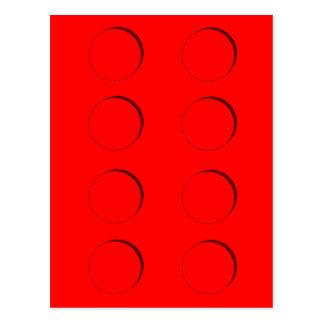 Plastic Building Block (Red) Postcard