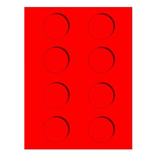Plastic Building Block (Red) Postcards