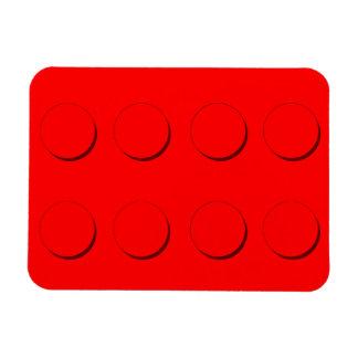 Plastic Building Block (Red) Rectangular Photo Magnet