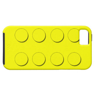 Plastic Building Block (Yellow) Case For The iPhone 5